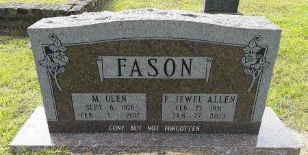 FASON, M. OLEN - Marion County, Texas | M. OLEN FASON - Texas Gravestone Photos