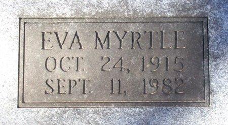 RUSSELL LOFTON, EVA MYRTLE (CLOSE UP) - Marion County, Texas | EVA MYRTLE (CLOSE UP) RUSSELL LOFTON - Texas Gravestone Photos
