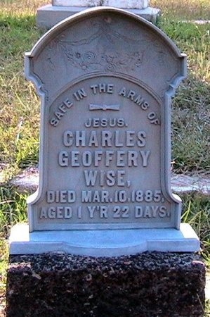 WISE, CHARLES GEOFFERY - Marion County, Texas | CHARLES GEOFFERY WISE - Texas Gravestone Photos