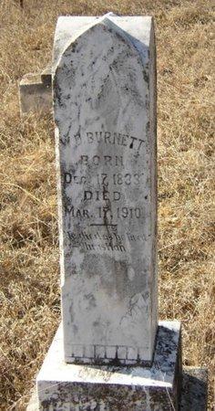 BURNETT (VETERAN CSA), WILLIAM DAVIS - Mason County, Texas | WILLIAM DAVIS BURNETT (VETERAN CSA) - Texas Gravestone Photos