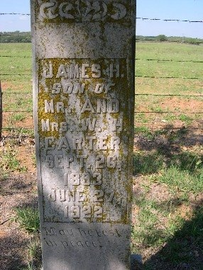 CARTER, JAMES HARVIE - Mason County, Texas | JAMES HARVIE CARTER - Texas Gravestone Photos