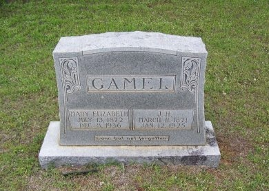 GAMEL, J. H. - Mason County, Texas | J. H. GAMEL - Texas Gravestone Photos