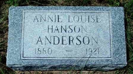 ANDERSON, ANNIE LOUISE - McCulloch County, Texas   ANNIE LOUISE ANDERSON - Texas Gravestone Photos