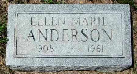 ANDERSON, ELLEN MARIE - McCulloch County, Texas   ELLEN MARIE ANDERSON - Texas Gravestone Photos