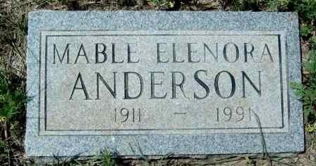 ANDERSON, MABLE ELENORA - McCulloch County, Texas | MABLE ELENORA ANDERSON - Texas Gravestone Photos