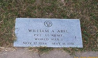 ABEL (VETERAN WWI), WILLIAM AUTRY - McLennan County, Texas | WILLIAM AUTRY ABEL (VETERAN WWI) - Texas Gravestone Photos