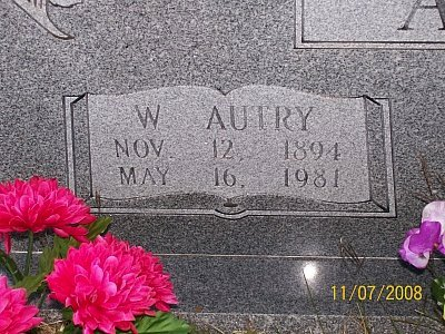 ABEL, WILLIAM AUTRY (CLOSEUP) - McLennan County, Texas | WILLIAM AUTRY (CLOSEUP) ABEL - Texas Gravestone Photos
