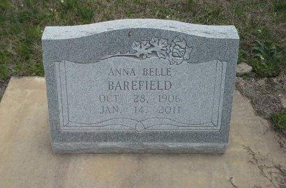 BAREFIELD, ANNA BELLE - McLennan County, Texas   ANNA BELLE BAREFIELD - Texas Gravestone Photos