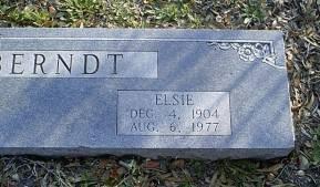 BERNDT, ELSIE  (CLOSEUP) - McLennan County, Texas | ELSIE  (CLOSEUP) BERNDT - Texas Gravestone Photos
