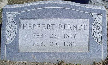 BERNDT, HERBERT - McLennan County, Texas | HERBERT BERNDT - Texas Gravestone Photos