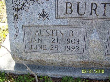BURTON, AUSTIN B. (CLOSEUP) - McLennan County, Texas | AUSTIN B. (CLOSEUP) BURTON - Texas Gravestone Photos