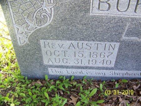 BURTON, AUSTIN, REV. (CLOSE UP) - McLennan County, Texas | AUSTIN, REV. (CLOSE UP) BURTON - Texas Gravestone Photos