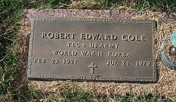 COLE (VETERAN KOR), ROBERT EDWARD - McLennan County, Texas | ROBERT EDWARD COLE (VETERAN KOR) - Texas Gravestone Photos