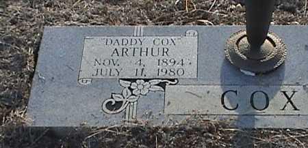 COX, ARTHUR (CLOSEUP) - McLennan County, Texas | ARTHUR (CLOSEUP) COX - Texas Gravestone Photos