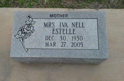 ESTELLE, IVA NELL - McLennan County, Texas | IVA NELL ESTELLE - Texas Gravestone Photos