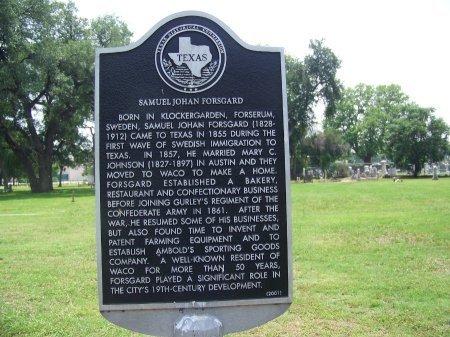 *TEXAS HISTORICAL MARKER,  - McLennan County, Texas    *TEXAS HISTORICAL MARKER - Texas Gravestone Photos