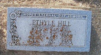 HILL, ETHYLE - McLennan County, Texas | ETHYLE HILL - Texas Gravestone Photos