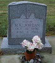 JORDAN, M. K. - McLennan County, Texas   M. K. JORDAN - Texas Gravestone Photos
