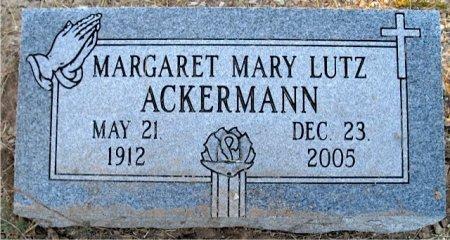 LUTZ ACKERMANN, MARGARET MARY - Medina County, Texas | MARGARET MARY LUTZ ACKERMANN - Texas Gravestone Photos