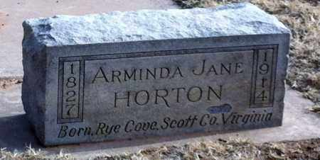 HORTON, ARMINDA JANE - Midland County, Texas   ARMINDA JANE HORTON - Texas Gravestone Photos