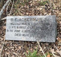 ACKERMAN, BENJAMIN F. - Milam County, Texas   BENJAMIN F. ACKERMAN - Texas Gravestone Photos