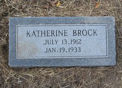 BROCK, KATHERINE - Milam County, Texas   KATHERINE BROCK - Texas Gravestone Photos