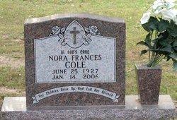 COLE, NORA FRANCES - Milam County, Texas | NORA FRANCES COLE - Texas Gravestone Photos