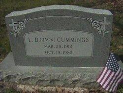 "CUMMINGS, L. D. ""JACK"" - Milam County, Texas | L. D. ""JACK"" CUMMINGS - Texas Gravestone Photos"