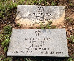 HUX (VETERAN WWI), AUGUST - Milam County, Texas | AUGUST HUX (VETERAN WWI) - Texas Gravestone Photos
