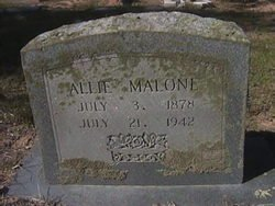 WOODS MALONE, ALLIE - Milam County, Texas | ALLIE WOODS MALONE - Texas Gravestone Photos