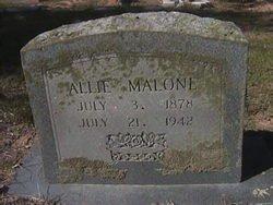 MALONE, ALLIE - Milam County, Texas | ALLIE MALONE - Texas Gravestone Photos