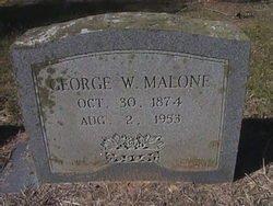MALONE, GEORGE WASHINGTON - Milam County, Texas | GEORGE WASHINGTON MALONE - Texas Gravestone Photos