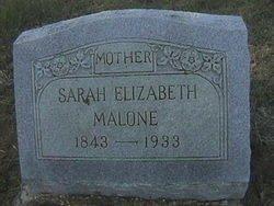 HOLLEY MALONE, SARAH ELIZABETH - Milam County, Texas | SARAH ELIZABETH HOLLEY MALONE - Texas Gravestone Photos