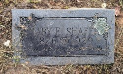 SHAFER, MARY ELIZABETH - Milam County, Texas | MARY ELIZABETH SHAFER - Texas Gravestone Photos
