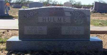 HULME, ALICE MAY - Mitchell County, Texas | ALICE MAY HULME - Texas Gravestone Photos