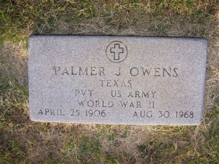OWENS (VETERAN WWII), PALMER JASPER - Mitchell County, Texas | PALMER JASPER OWENS (VETERAN WWII) - Texas Gravestone Photos