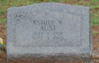 AUST, ESTHER WILLIE - Montague County, Texas | ESTHER WILLIE AUST - Texas Gravestone Photos