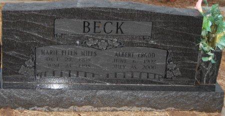 BECK, ALBERT ERGOD - Montague County, Texas | ALBERT ERGOD BECK - Texas Gravestone Photos