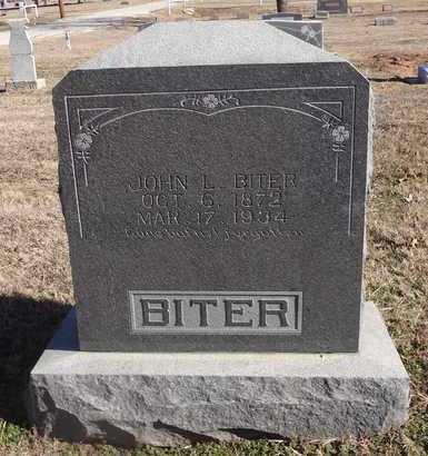BITER, JOHN L - Montague County, Texas   JOHN L BITER - Texas Gravestone Photos