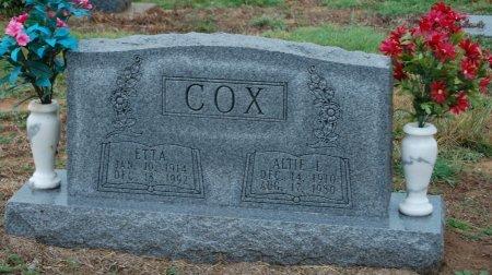 COX, ALTIE L. - Montague County, Texas | ALTIE L. COX - Texas Gravestone Photos