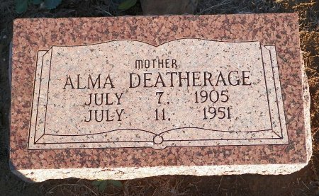 DEATHERAGE, ALMA N. - Montague County, Texas | ALMA N. DEATHERAGE - Texas Gravestone Photos
