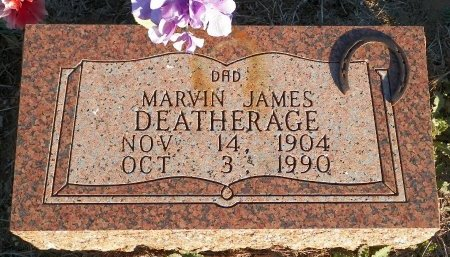 DEATHERAGE, MARVIN JAMES - Montague County, Texas | MARVIN JAMES DEATHERAGE - Texas Gravestone Photos