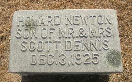 DENNIS, HOWARD NEWTON - Montague County, Texas | HOWARD NEWTON DENNIS - Texas Gravestone Photos
