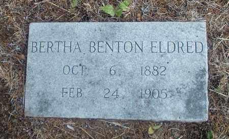 BENTON ELDRED, BERTHA - Montague County, Texas   BERTHA BENTON ELDRED - Texas Gravestone Photos