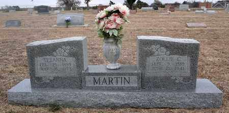 MARTIN, ZOLLIE C - Montague County, Texas | ZOLLIE C MARTIN - Texas Gravestone Photos