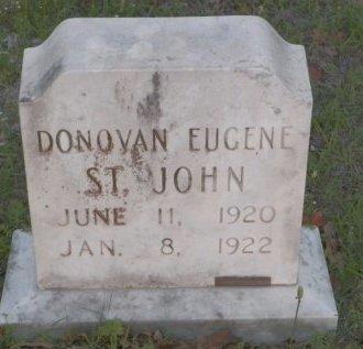 ST. JOHN, DONOVAN EUGENE - Montague County, Texas | DONOVAN EUGENE ST. JOHN - Texas Gravestone Photos