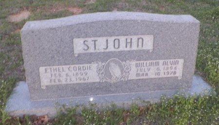 ST. JOHN, WILLIAM ALVIN - Montague County, Texas | WILLIAM ALVIN ST. JOHN - Texas Gravestone Photos