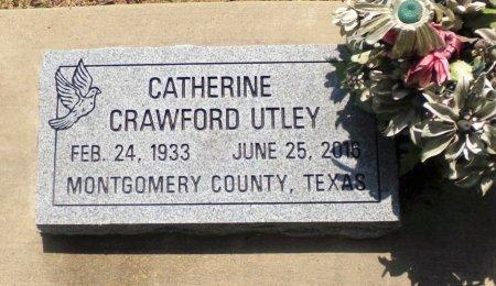 CRAWFORD UTLEY, CATHERINE - Montgomery County, Texas | CATHERINE CRAWFORD UTLEY - Texas Gravestone Photos