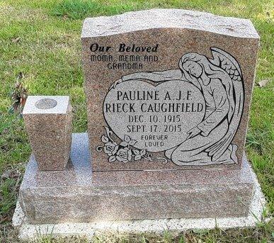 CAUGHFIELD, PAULINE A J F - Morris County, Texas | PAULINE A J F CAUGHFIELD - Texas Gravestone Photos