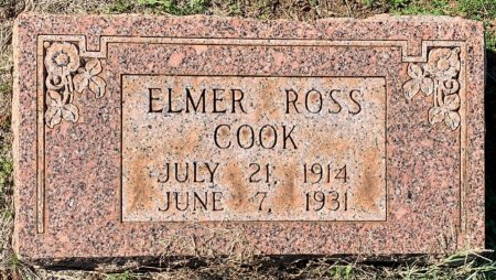 COOK, ELMER ROSS - Morris County, Texas | ELMER ROSS COOK - Texas Gravestone Photos